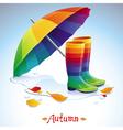 bright autumn background vector image