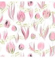 Bright seamless pattern with oil painted delicate vector image