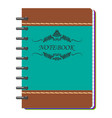 brown and green notebook vector image vector image