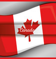 canada flag map monument vector image vector image