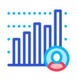 candidate statistics icon outline vector image vector image