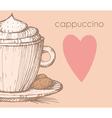 Cappuccino vector image vector image