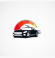 car speed logo designs concept icon element and vector image vector image