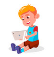 children s gadget dependence internet vector image