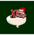 Christmas card with Santa hat and beard vector image vector image