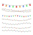 Christmas holiday garland lights in flat style vector image vector image