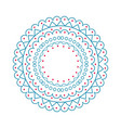 christmas pattern circle on vector image