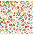 christmas seamless pattern christmas seamless vector image vector image