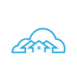 cloud house logo icon template vector image vector image