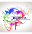colour abstract composition vector image vector image