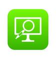 computer monitor magnifying glass icon digital vector image vector image
