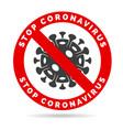 corona virus stop sign vector image