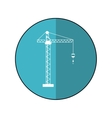 crane hook construction machine blue circle shadow vector image