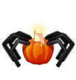 decorative candle holder pumpkin in shape a vector image vector image