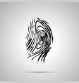 detailed human fingerprint simple black icon with vector image vector image