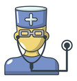 doctor icon cartoon style vector image