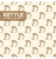 Electric kettle Vintage style vector image