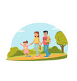 family time flat vector image