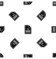 file xls pattern seamless black vector image vector image