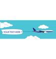 Flying plane with banner vector image