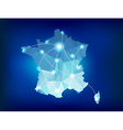France country map polygonal with spot lights vector image vector image