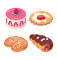 game icons set food for higher health level sweet vector image