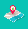 gas petrol fuel station on city map location vector image