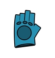 gloves gym equipment isolated icon vector image vector image