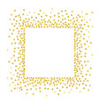 gold square vector image vector image