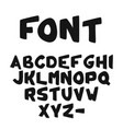 hand-drawn cute bold alphabet or font vector image