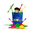 holi-festival colors vector image