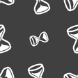 hourglass icon sign Seamless pattern on a gray vector image vector image