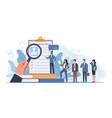 hr agency applicants queue for consideration vector image
