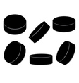 Ice Hockey Pucks2 vector image vector image