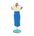 image of a woman dress vector image