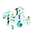 isometric concept for office staff vector image