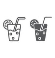 lemonade line and glyph icon food and drink vector image vector image