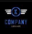 letter k automotive creative business logo vector image vector image