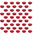 lip red pattern vector image vector image