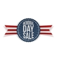 Memorial Day Sale patriotic Banner with Text vector image vector image