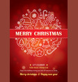 merry christmas party for flyer brochure design vector image vector image