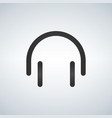 minimalistic linear headset icon isolated on vector image