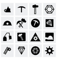 mining icon set vector image
