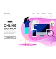 modern flat design concept online education vector image vector image