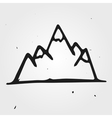 mountains hand drawn vector image vector image