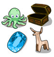 octopus deer chip and chest vector image vector image
