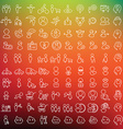 One hundred icons set for applications and vector image vector image