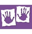 paper grunge hands vector image vector image