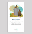 pollution and recycling garbage bags web app vector image vector image
