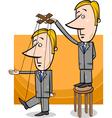 puppet businessman concept cartoon vector image